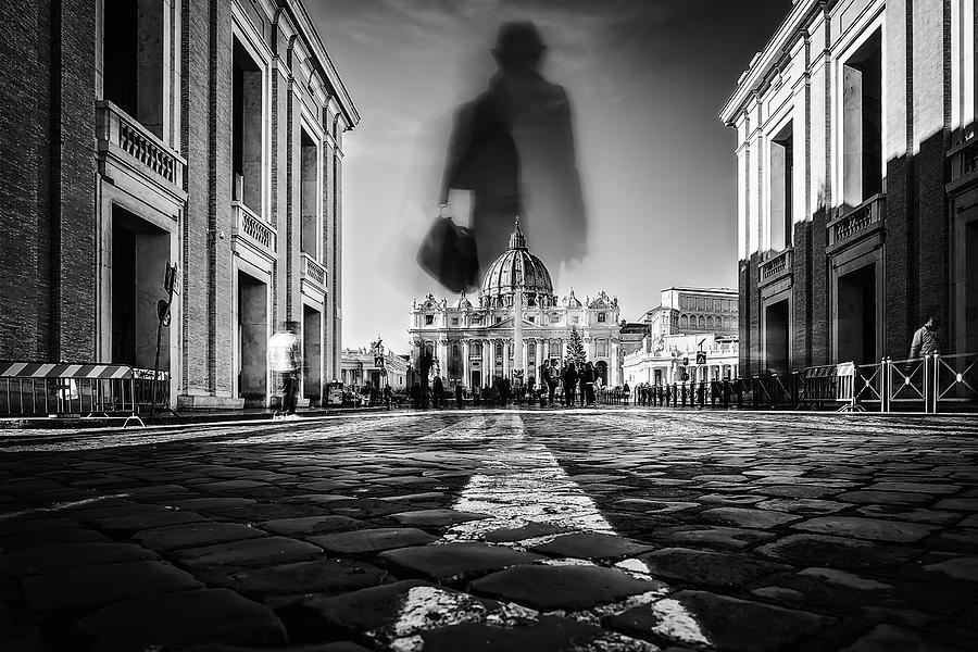Rome Photograph - Road To St.peter by Massimiliano Mancini