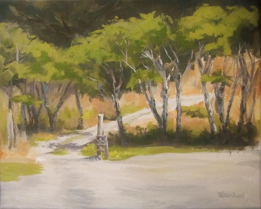 Plein Air Painting - Road to the Cabin by Karen Ilari
