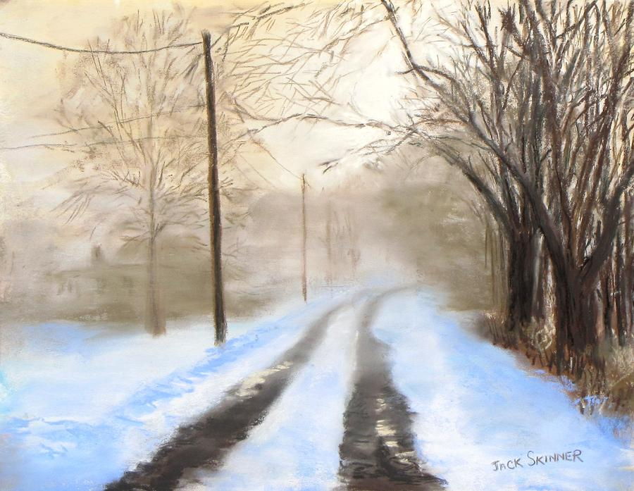Snow Pastel - Road To The Ice House by Jack Skinner