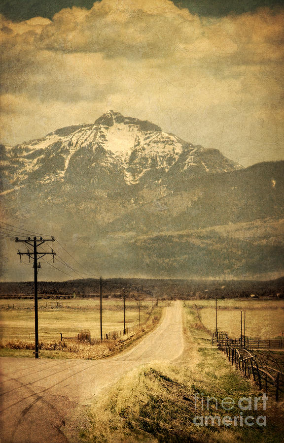 Road Photograph - Road To The Mountains by Jill Battaglia