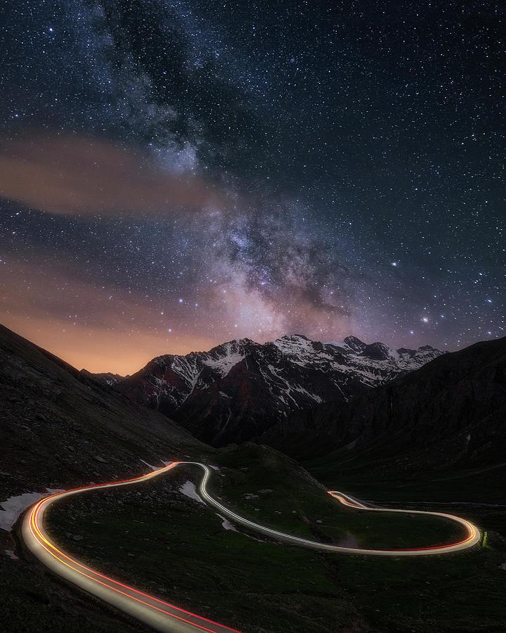 Road To The Stars Photograph by Mattia Bertaina