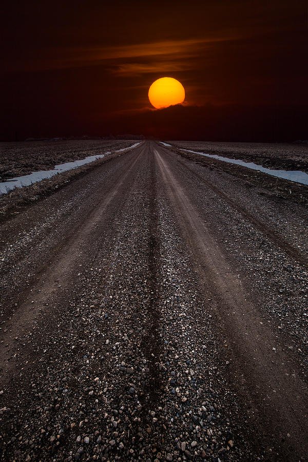 Sun Photograph - Road To The Sun by Aaron J Groen