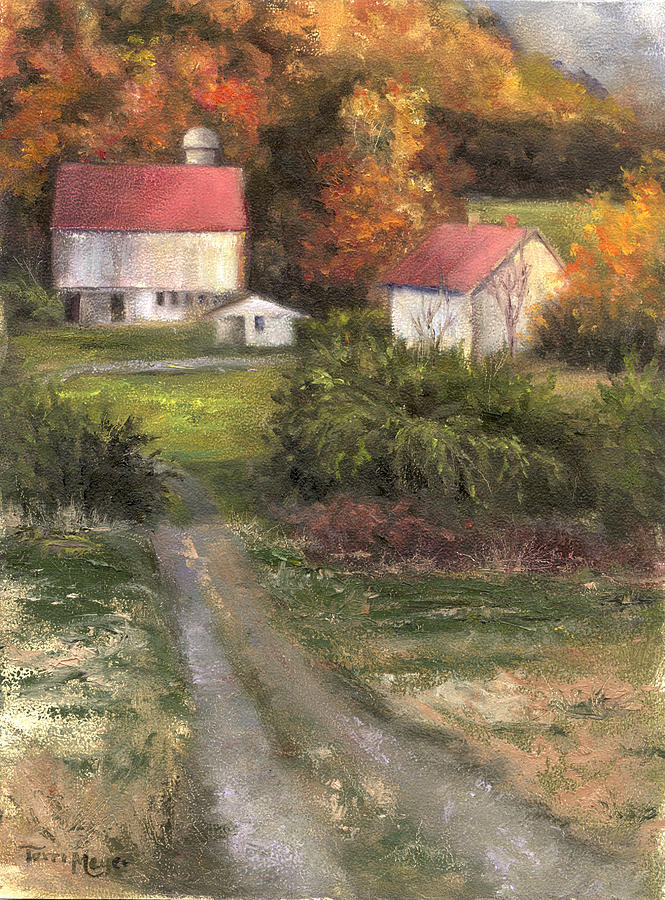 Farm Landscape Painting - Road To Tranquility by Terri  Meyer