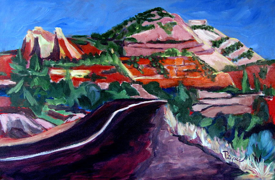 Zion National Park Painting - Road To Zion National Park by Betty Pieper