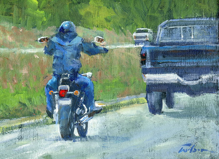 Road Painting - Road Warrior - Cruising by Ron Wilson