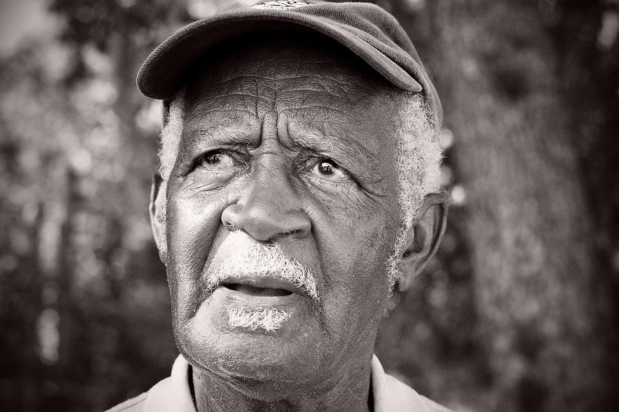 People Photograph - Roadside Farmer Preacher by Toni Hopper