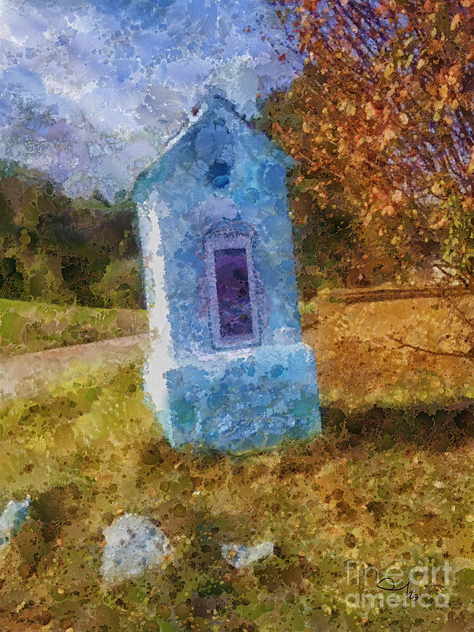 Country Painting - Roadside Shrine by Mo T