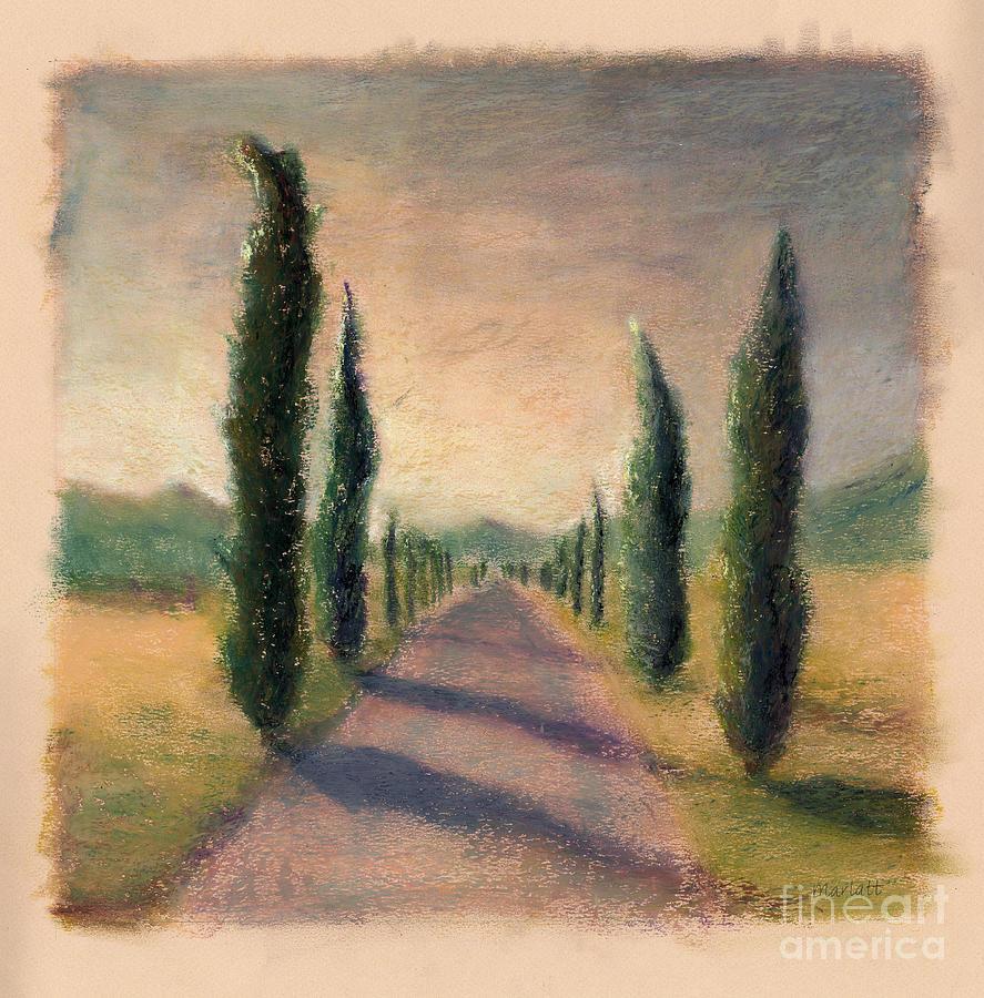 Roadway To Somewhere Pastel by Logan Gerlock