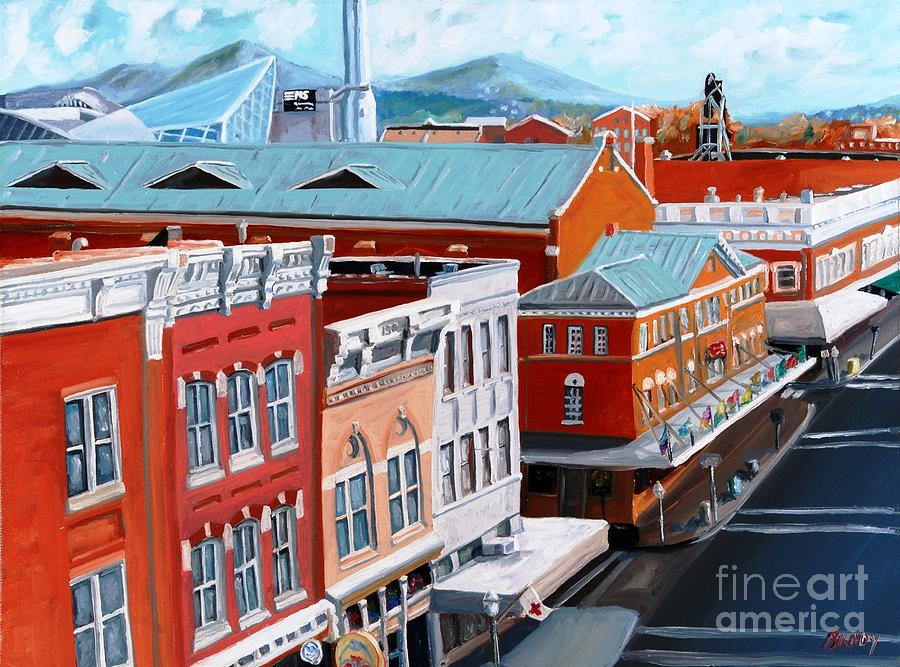 Roanoke Virginia Painting - Roanoke City Market by Todd Bandy