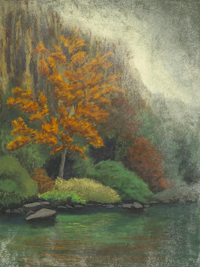 Buffalo River Pastel - Roark Bluff by Garry McMichael