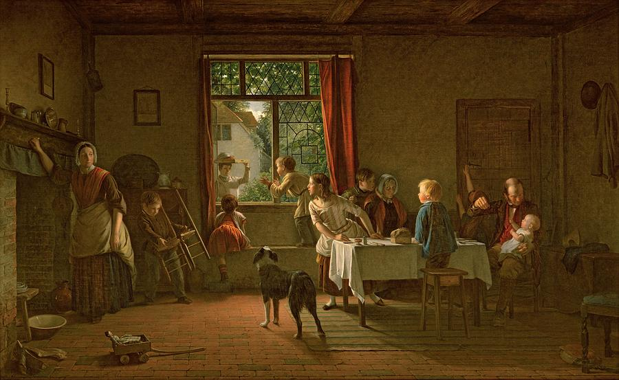 Interior Painting - Roast Pig, 1862 by Thomas Webster