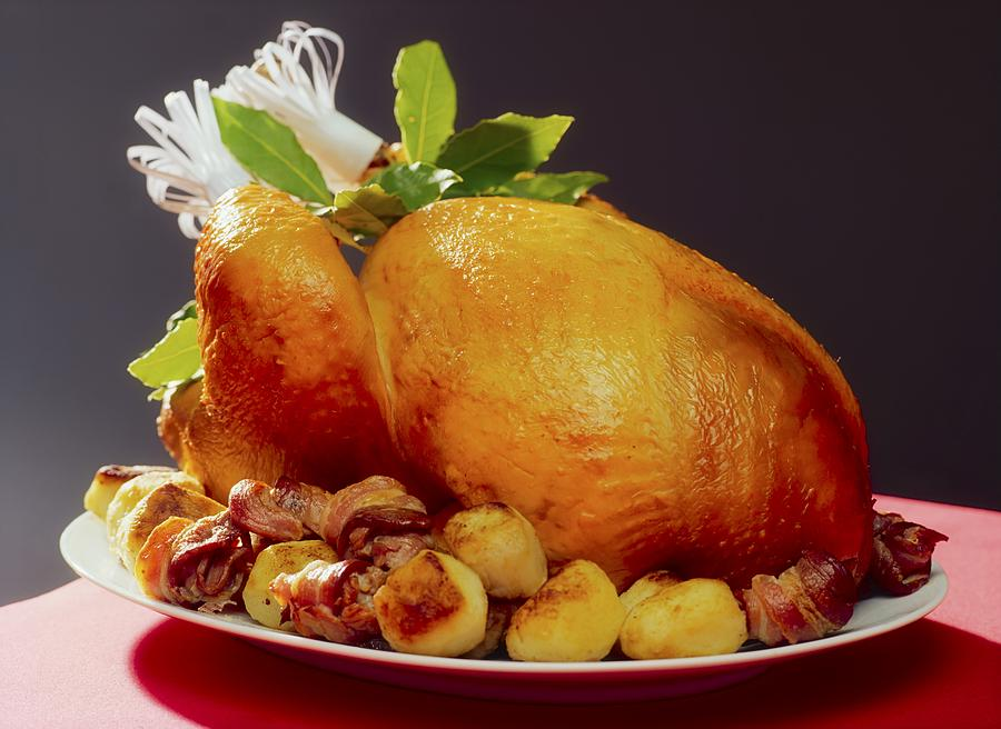 Christmas Photograph - Roast Turkey by The Irish Image Collection