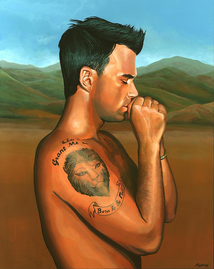 Robbie Williams Painting - Robbie Williams 2 by Paul Meijering