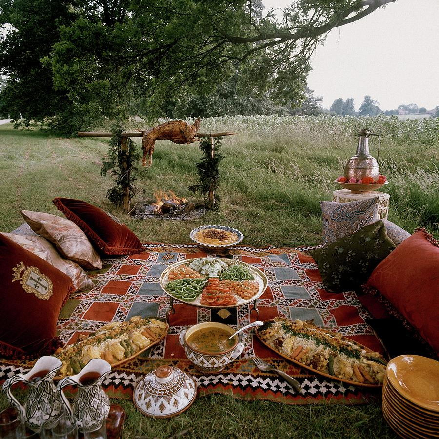 Robert Carriers Moroccan Picnic In A Field Photograph by David Massey