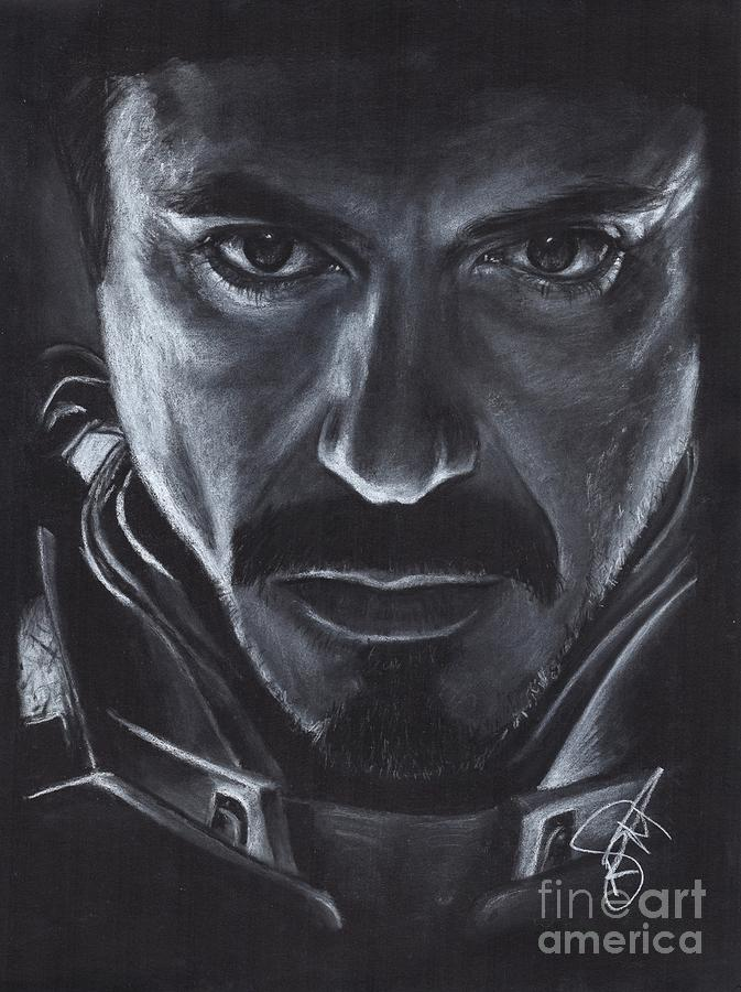 Robert Downey Jr Drawing - Robert Downey Jr.  by Rosalinda Markle