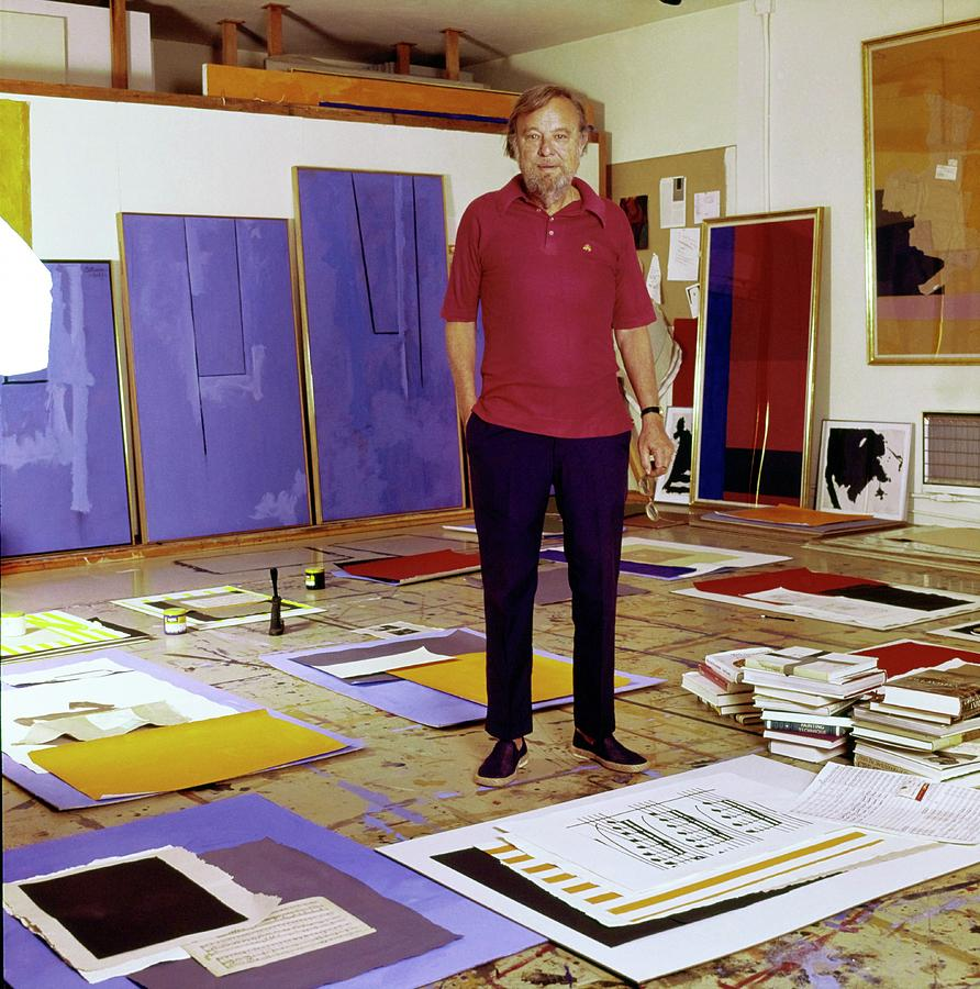 Robert Motherwell In His Studio Photograph by Horst P. Horst