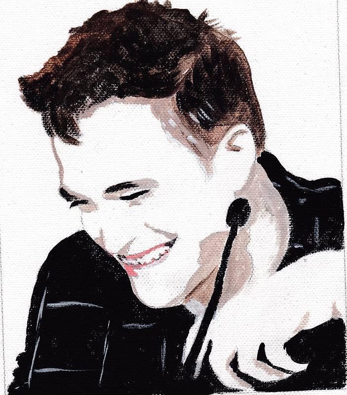 Robert Pattinson 184 Painting by Audrey Pollitt