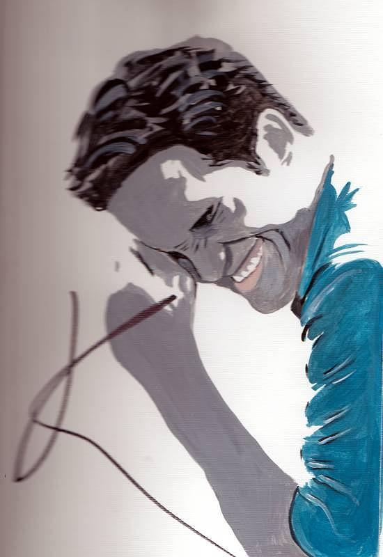 Robert Pattinson 48a Painting by Audrey Pollitt