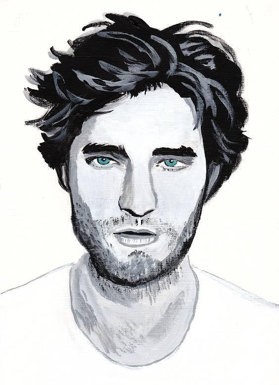 Robert Pattinson 88 Painting by Audrey Pollitt