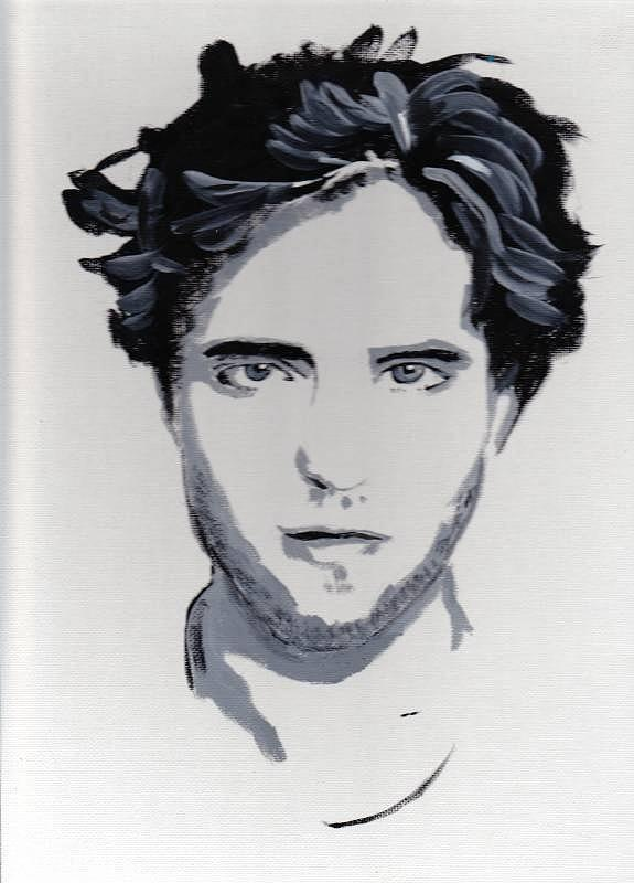 Robert Pattinson 89 Painting by Audrey Pollitt
