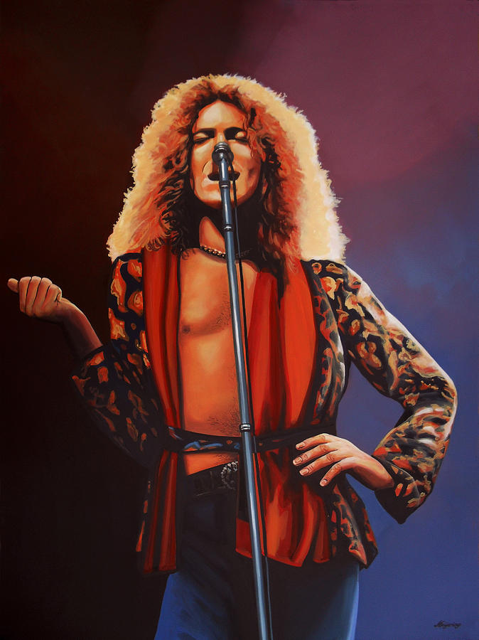 Robert Plant Painting - Robert Plant 2 by Paul Meijering