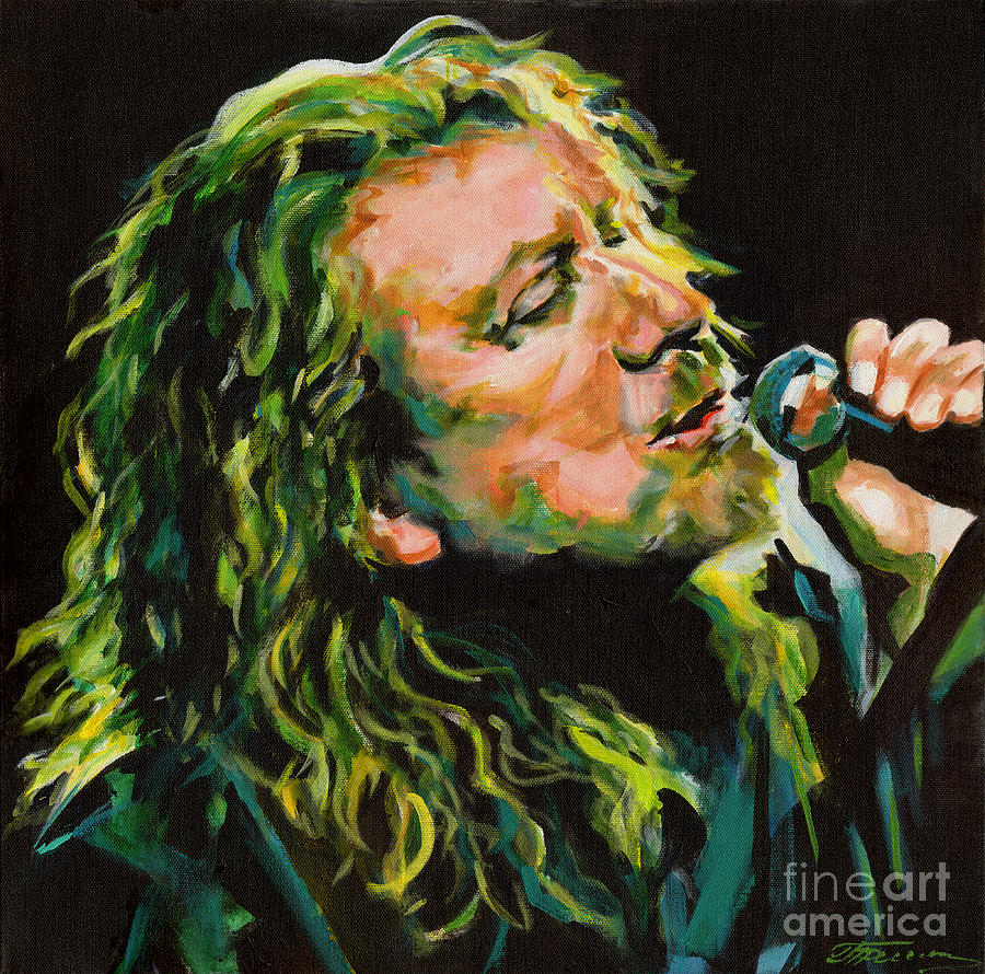 Contemporary Painting - Robert Plant 40 Years Later Like Never Been Gone by Tanya Filichkin