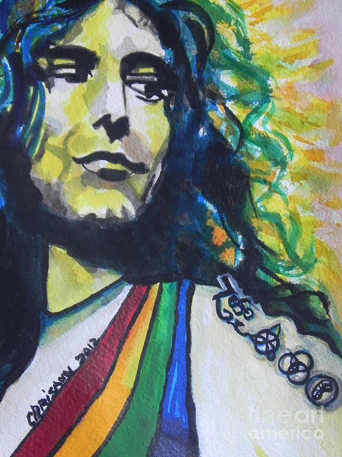 Watercolor Painting Painting - Robert Plant.. Led Zeppelin by Chrisann Ellis