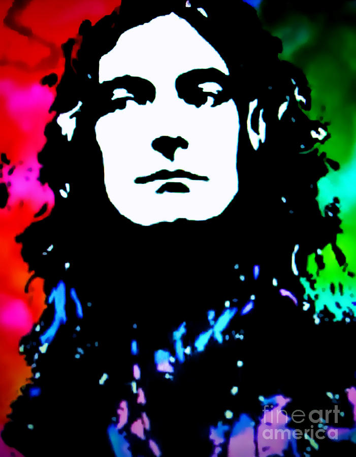 Robert Plant Pop Art Painting