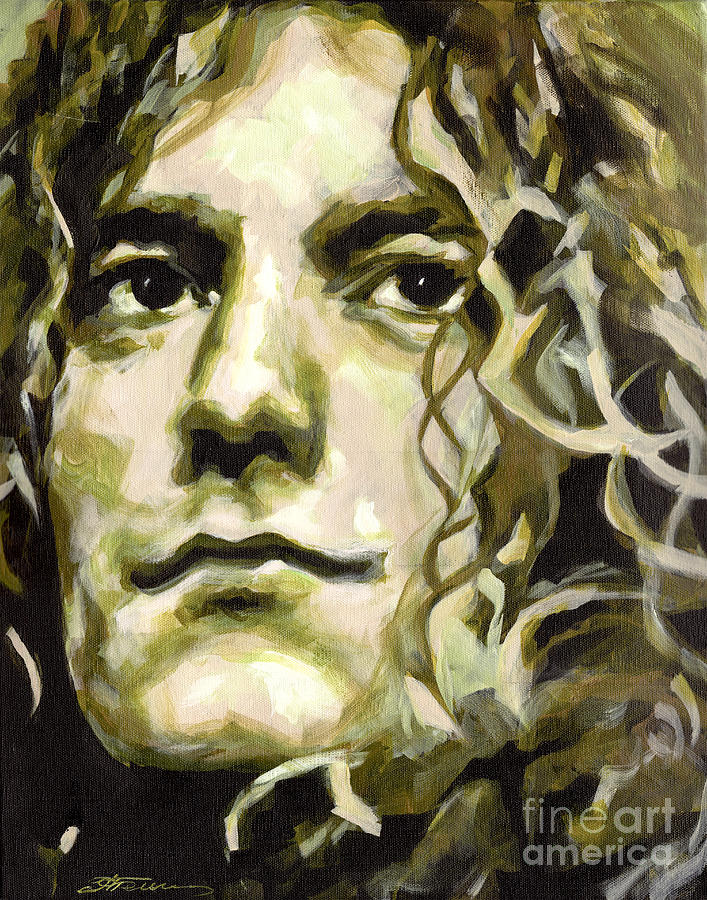 Tanya Painting - Robert Plant. Golden God by Tanya Filichkin