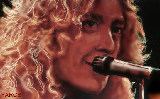 Robert Plant Digital Art - Robert Plant by YourArtist Rob