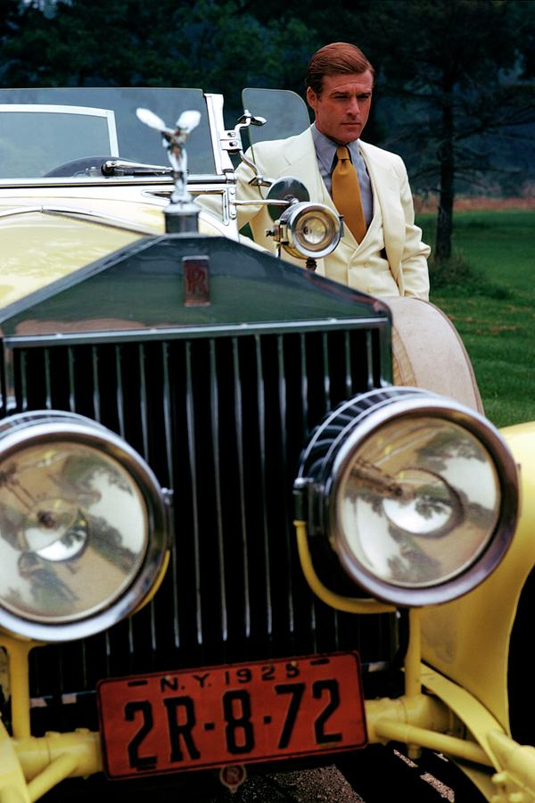 Actor Photograph - Robert Redford By A Rolls-royce by Duane Michals
