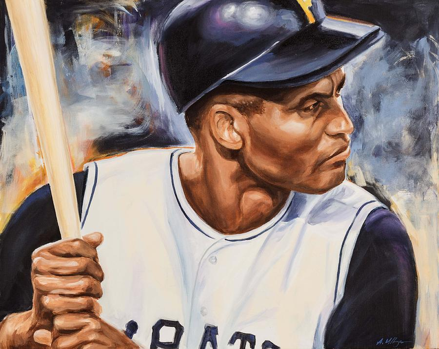 Roberto Clemente Painting - Roberto Clemente by Angie Villegas