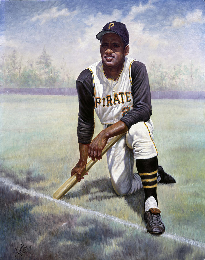 Puerto Rico Painting - Roberto Clemente by Gregory Perillo