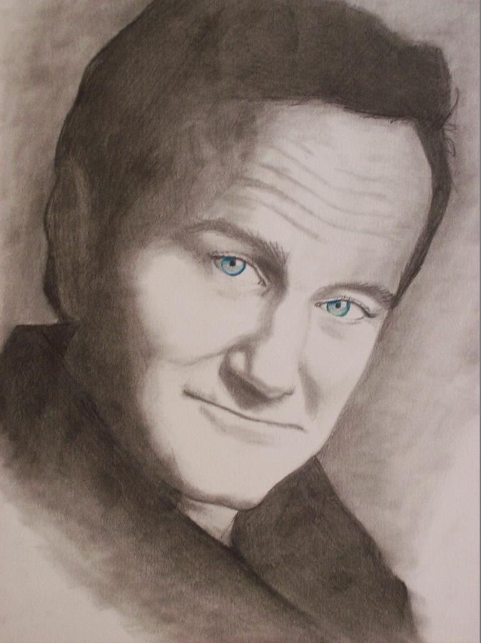 Robin Williams Drawing - Robin by Amber Stanford