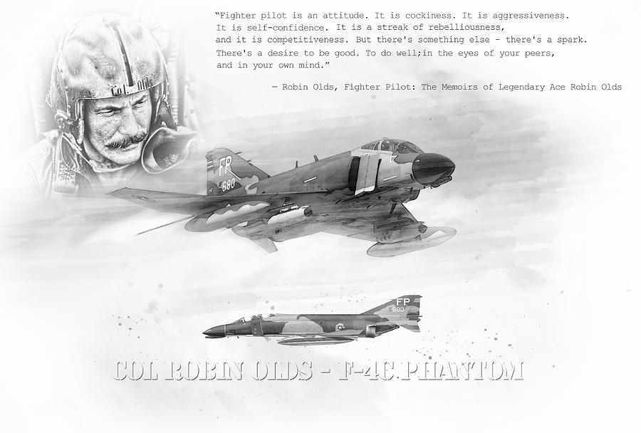 Robin Olds Digital Art - Robin Olds by Peter Chilelli