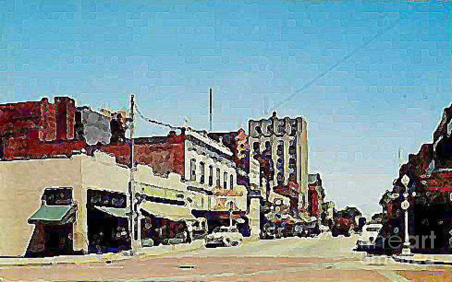Theaters Painting - Robins Theatre In Niles Oh In The 1950s by Dwight Goss