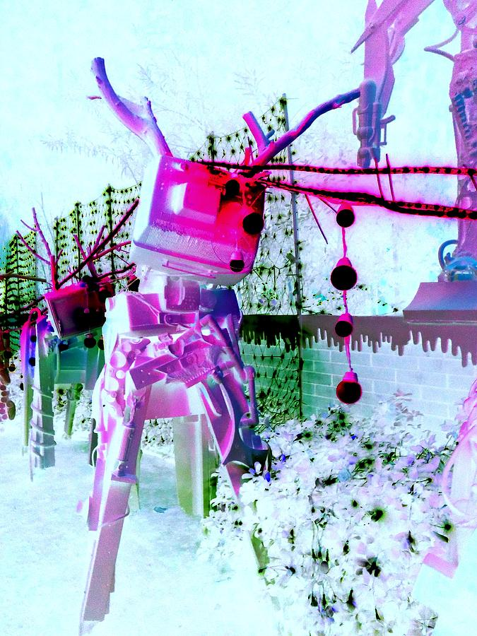 Robo Digital Art - Robo Reindeer by Randall Weidner