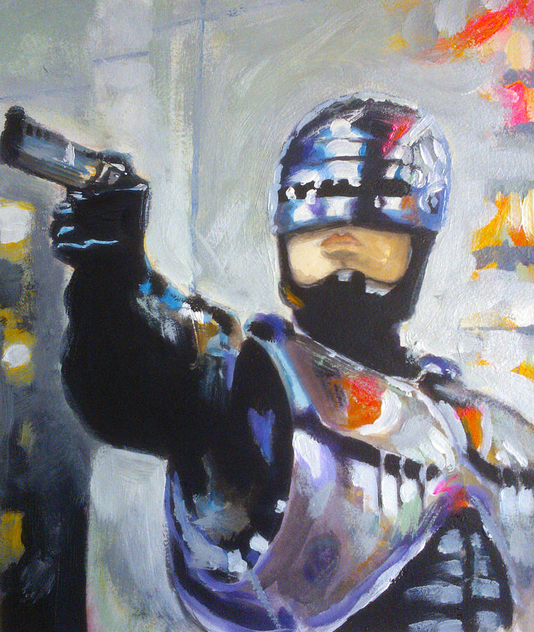Robocop Painting by Paul Mitchell