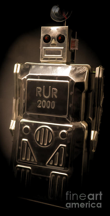 Vintage Digital Art - Robot Rur 2000 by Edward Fielding