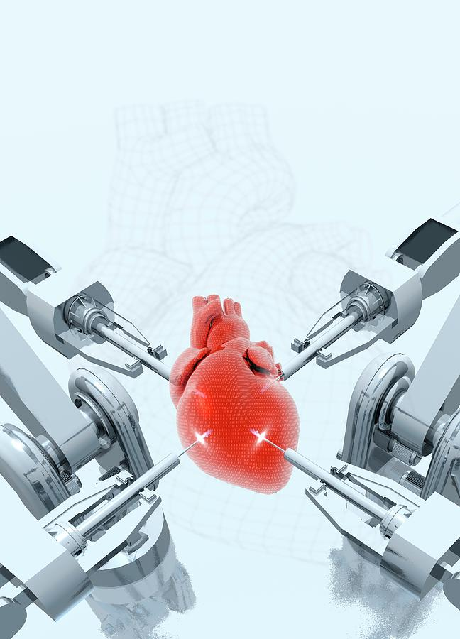 Artwork Photograph - Robotic Arms Making A Heart by Victor Habbick Visions