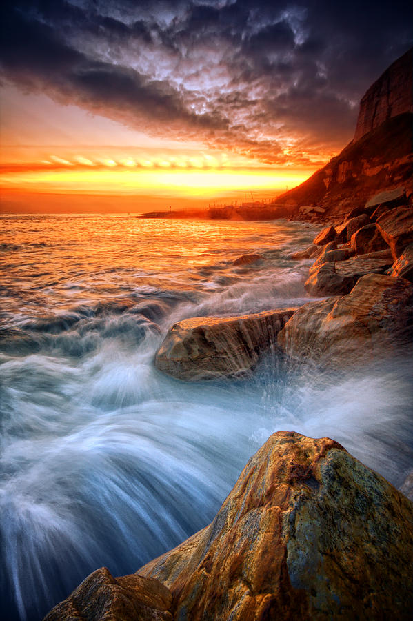 Canvas Photograph - Rock A Nore Splash by Mark Leader