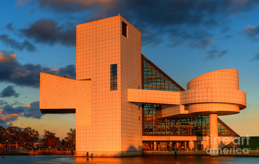 Building Photograph - Rock And Roll Hall Of Fame by Jerry Fornarotto