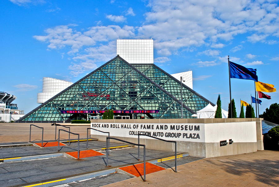Cleveland Photograph - Rock And Roll Hall Of Fame by Frozen in Time Fine Art Photography