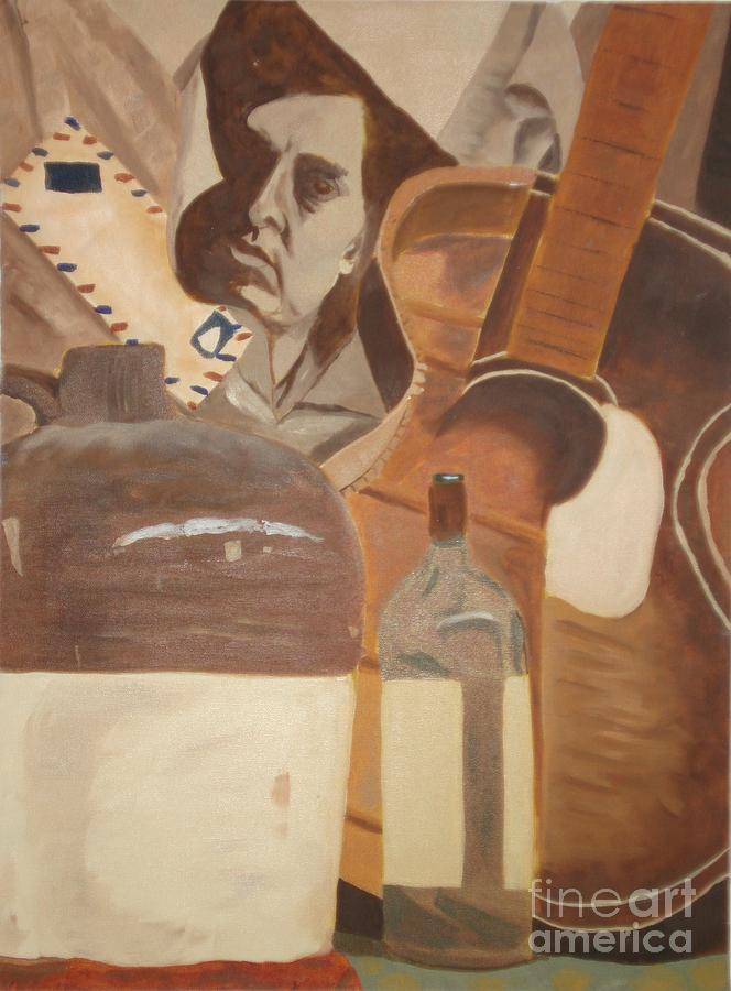 Guitar Painting - Rock And Roll by Janet C Stevens