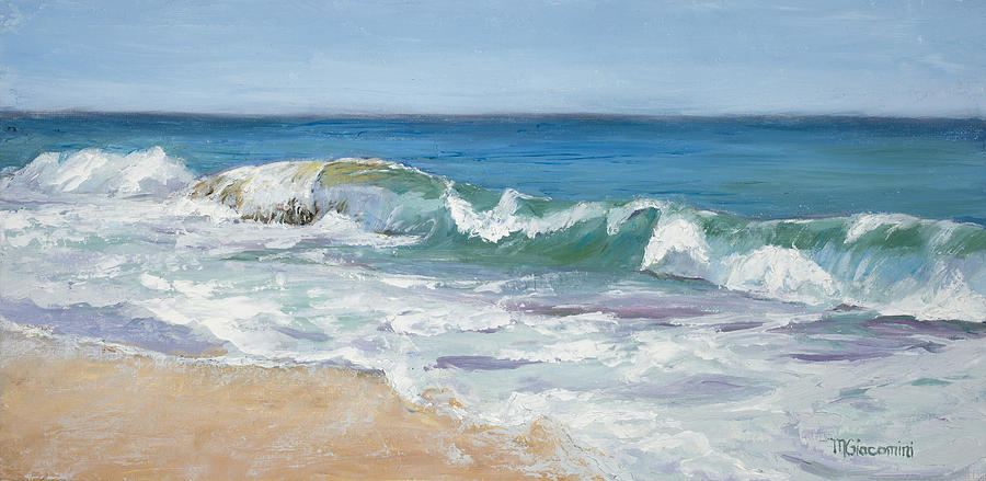 Waves Painting - Rock And Roll by Mary Giacomini