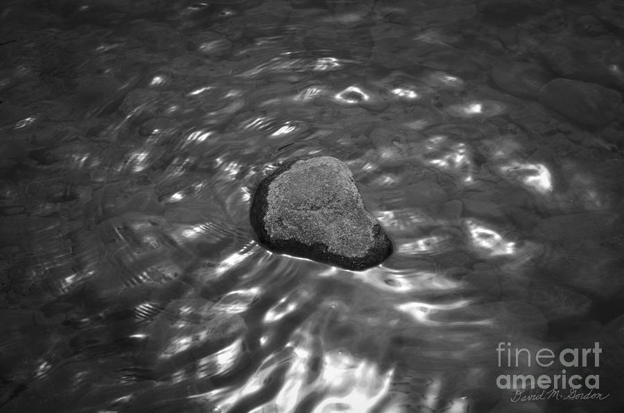 Rock Photograph - Rock And Sun Reflections by Dave Gordon