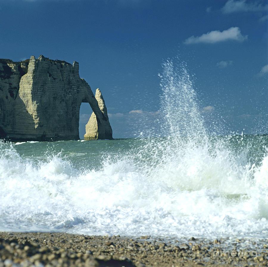 Rock Arch. Etretat. Seine-maritime. Normandy. France. Europe Photograph by Bernard Jaubert