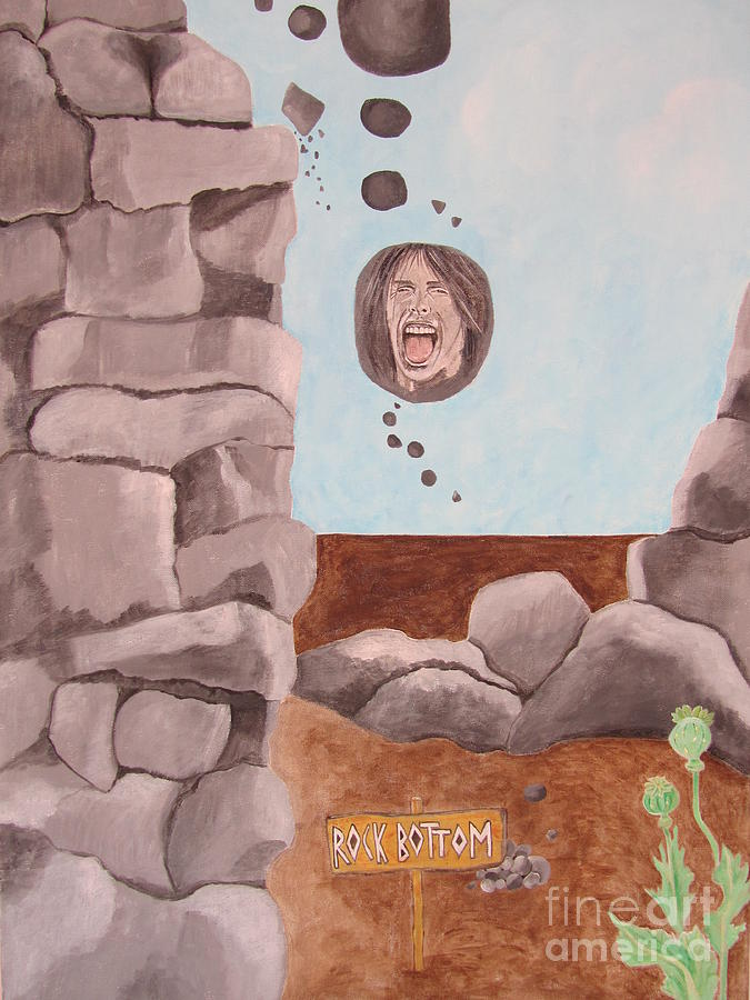 Steven Tyler Painting - Rock Bottom by Jeepee Aero