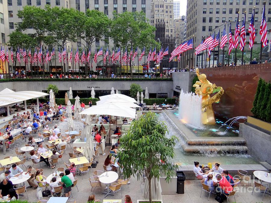 Rockefeller Center Photograph - Rock Center Fourth by Ed Weidman