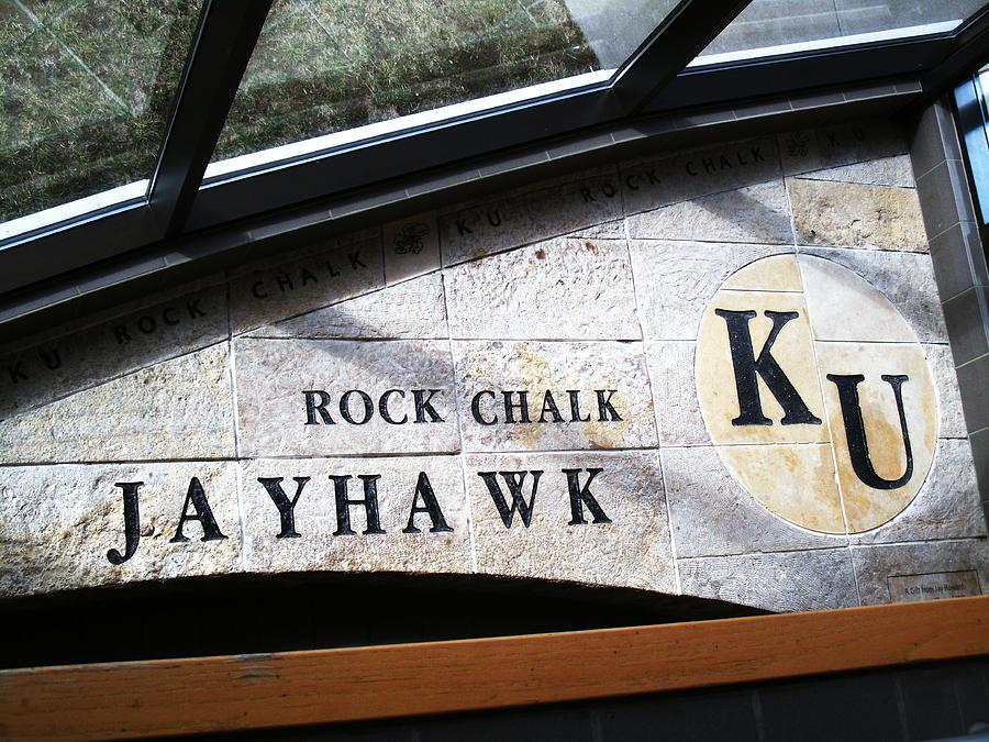 Kansas Photograph - Rock Chalk Ku by Paul Ganser